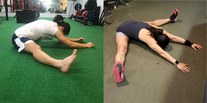 Improved hip abduction, flexion, and rotation