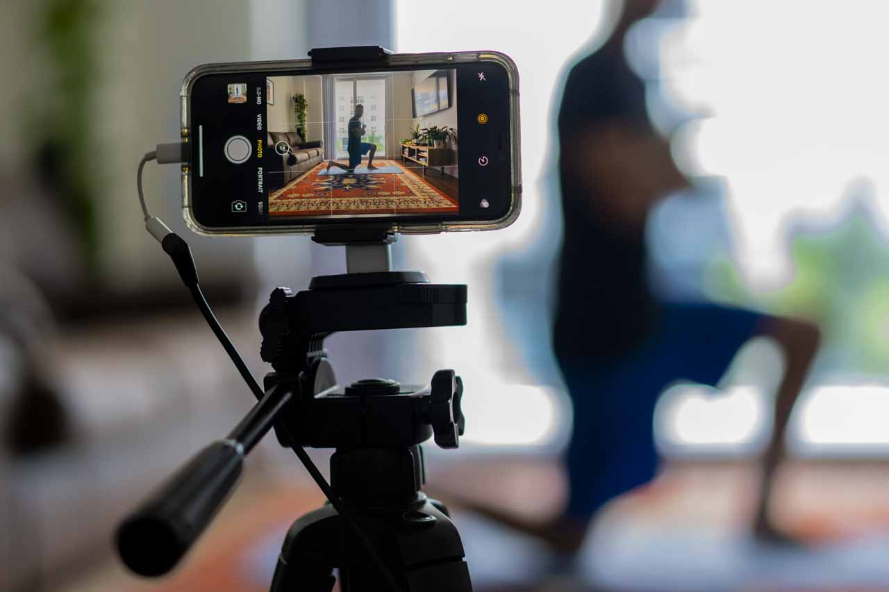 how to use your phone to film fitness classes and make money
