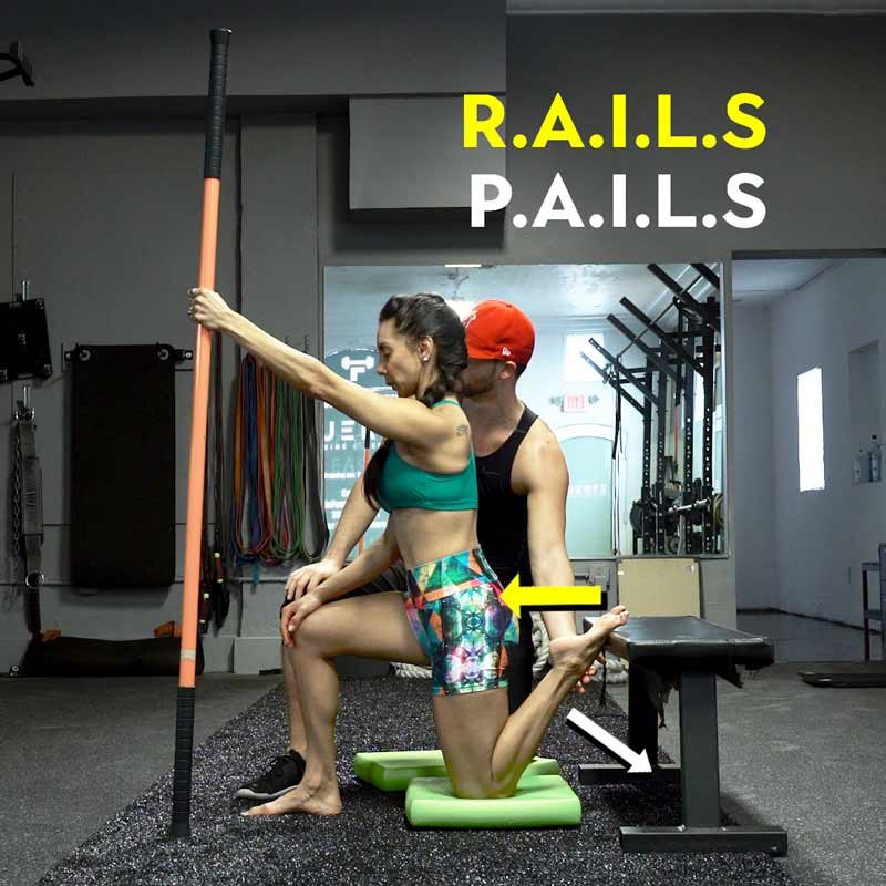 example of pails and rails with couch stretch